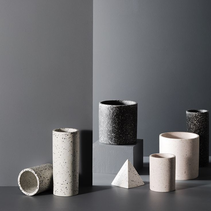 Designstuff offers a range of Scandinavian designed home decor including this versatile terrazzo pot in black by Zakkia.