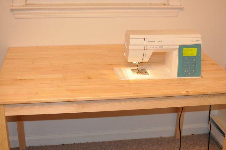DIY Platform Sewing Table | Bluedinosaurs.com | Sewing Station Ideas | Pinterest | Ikea table ...