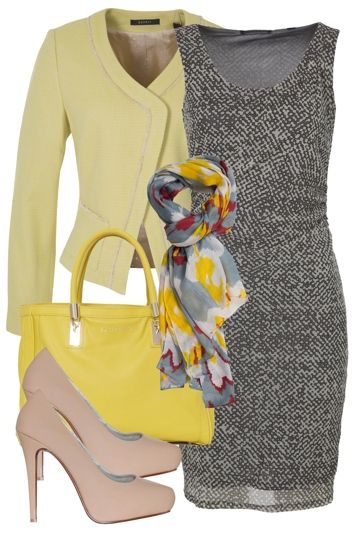 Corporate Style Outfit includes Esprit Collection, Tiger Tree, and PeepToe - Birdsnest Online Fashion Store
