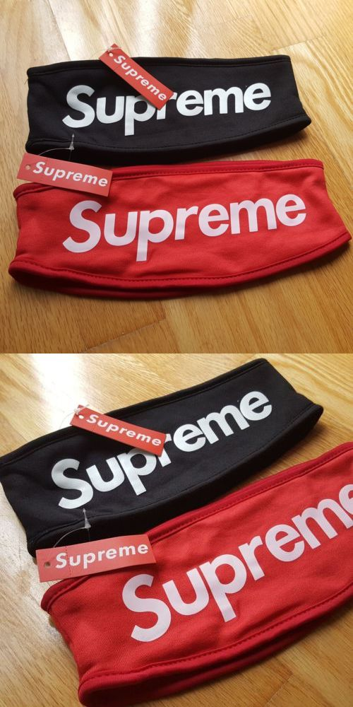 Scarves and Bandanas 169281  Supreme Streetwear Hypebeast Fleece Headband  Classic Box Logo Red Or Black -  BUY IT NOW ONLY   13.99 on  eBay  scarves  ... 63945c7da9