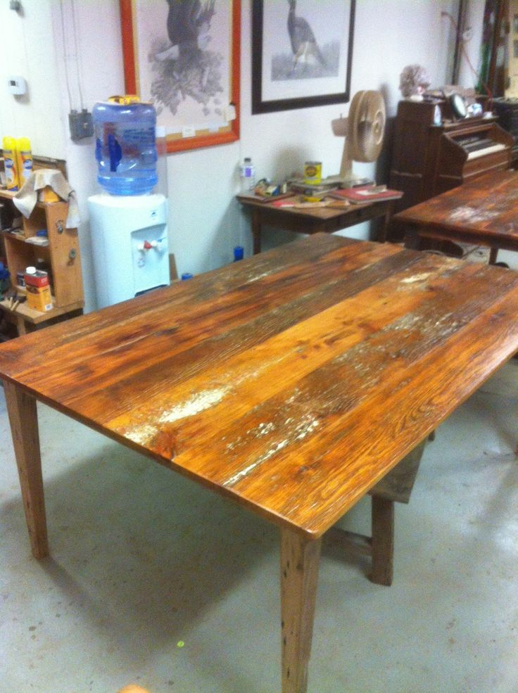 Custom made tables from local reclaimed wood for j p
