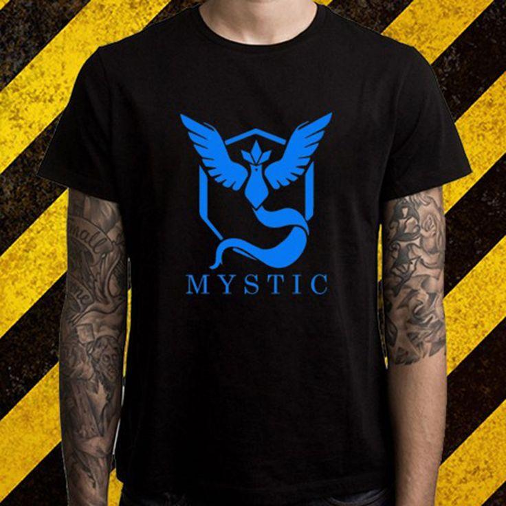 >> Click to Buy << New Pokemon Go Team Mystic Logo Popular Game Men's Black T-Shirt Size S To 2XL Print T Shirt Men Summer Top Tee #Affiliate