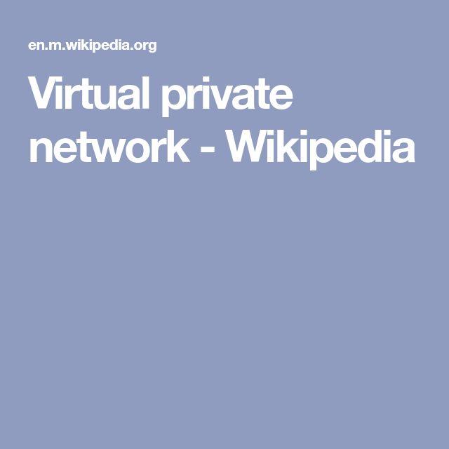 Virtual private network - Wikipedia