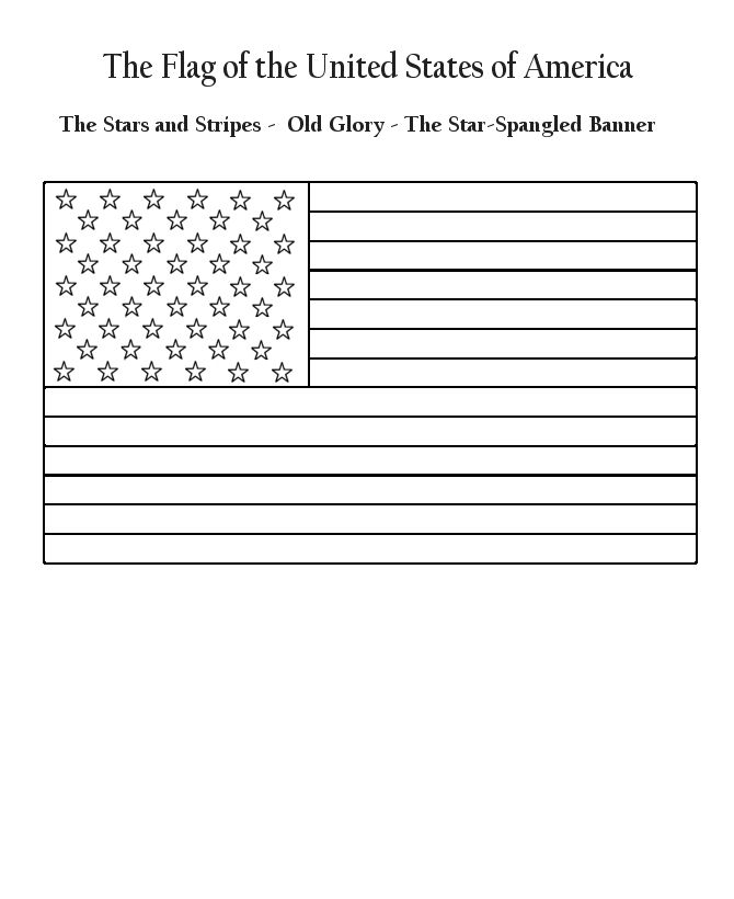 Flag Day Coloring Page Flag Coloring Pages American Flag