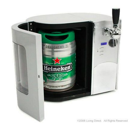 Mini Kegerator Refrigerator & Draft Beer Dispenser, $159.99. | 37 Ridiculous Kitchen Gadgets You Definitely Need In Your Life