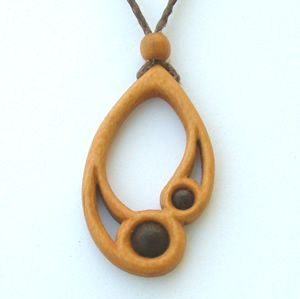 Hand carved wooden necklaces and necklets, with matching earrings in a wide range of woods. Buy online. | Enngagement