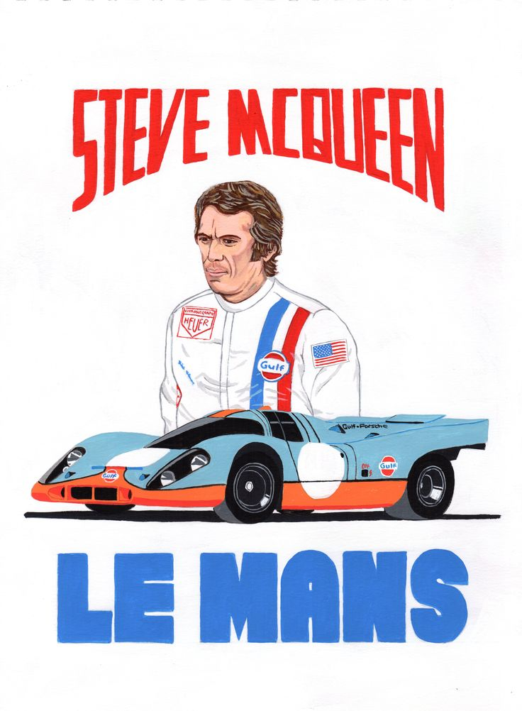 steve mcqueen le mans in arylic on mixed media paper my car bike art pinterest steve. Black Bedroom Furniture Sets. Home Design Ideas