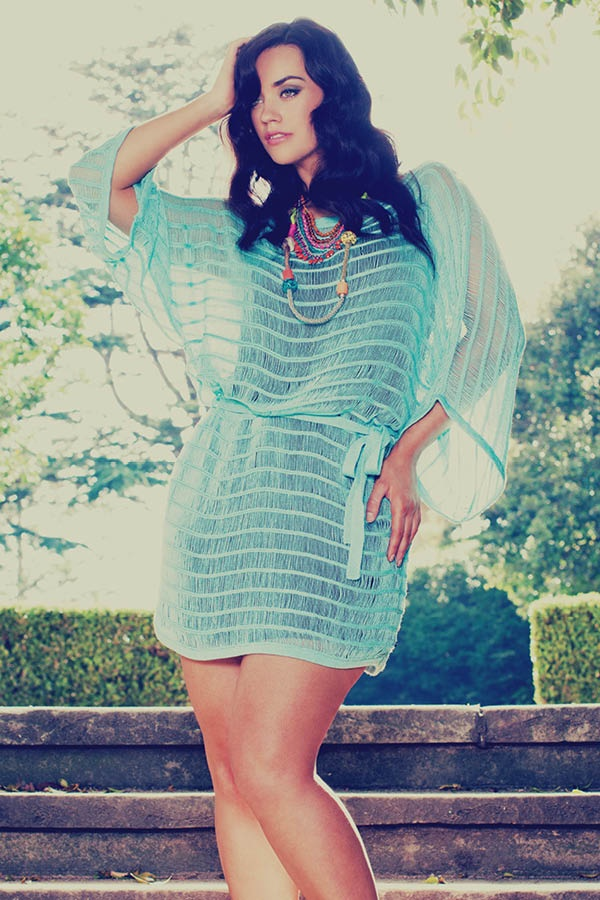 the iconic curvy look book laura wells summer spring 2012 ladder dress