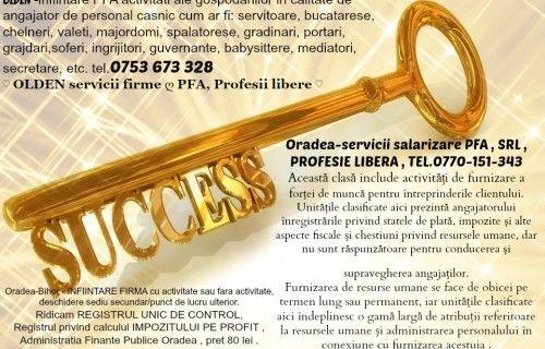 Economist masterand jurist ofer servicii de salarizare, contabilitate conform legii , inregistrare mentiuni ORC (infiintare SRL, PFA, ONG) #servicii #infiintare #firma