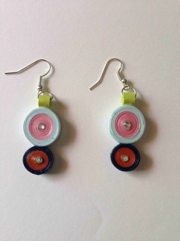 Buy Handmade Light weight Quilled Paper Earring Jewellery in India. Free Shipping . Cash on Delivery