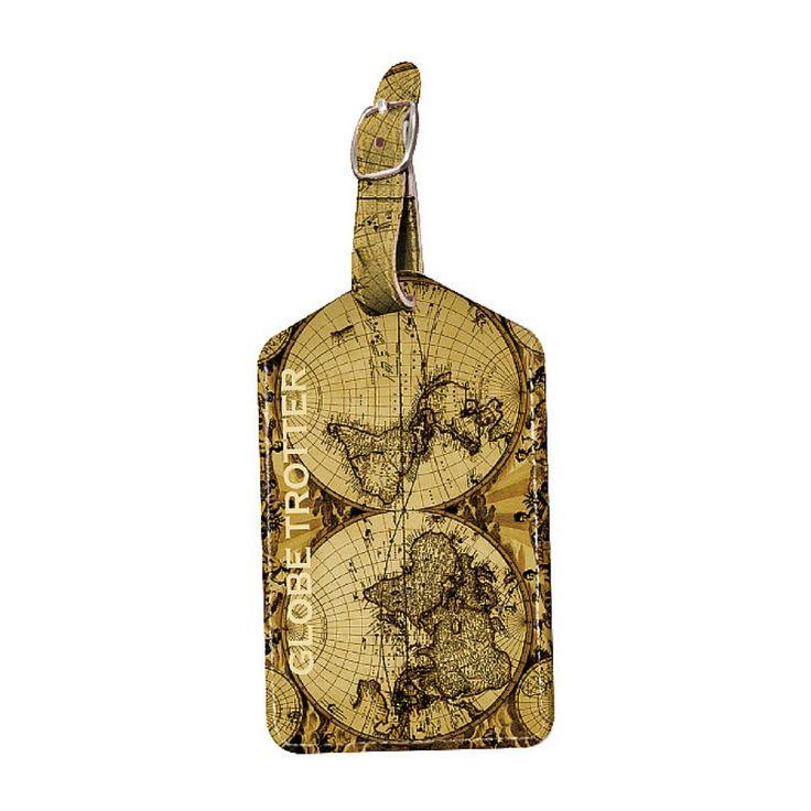 Deva Luggage Tag: Globe Trotter - $16.95 #bagtag #luggagetag