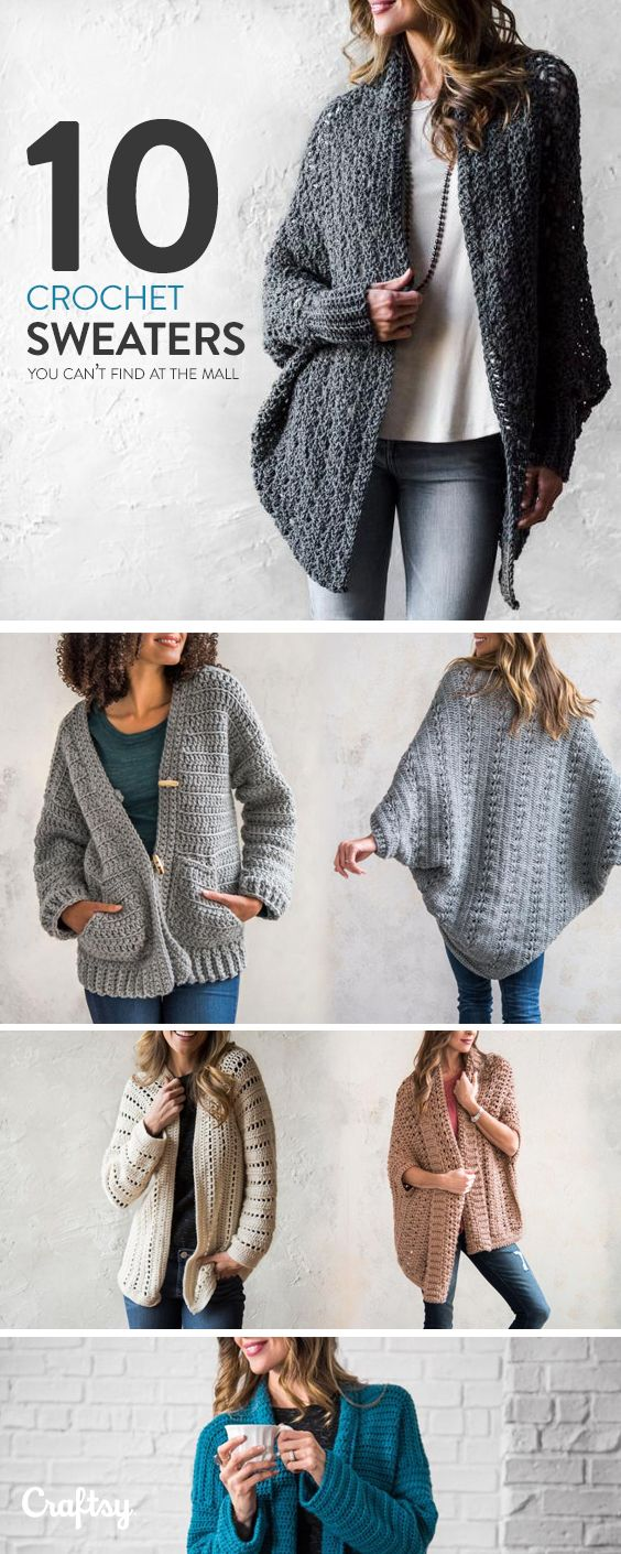Explore crochet sweater projects, yarns, videos and more!