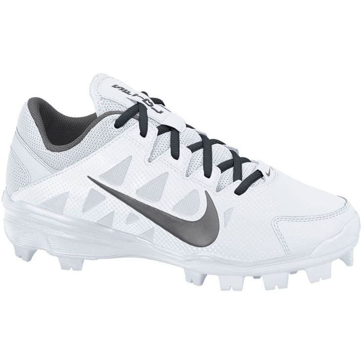 Nike Women's Air Hyperdiamond Strike 2 MCS Softball Cleat - White/Grey | DICK'S Sporting Goods