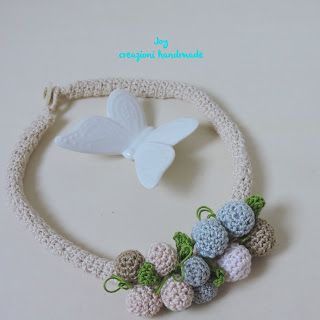 Crochet necklace Joy Le Borse Hand-made: Collane Crochet
