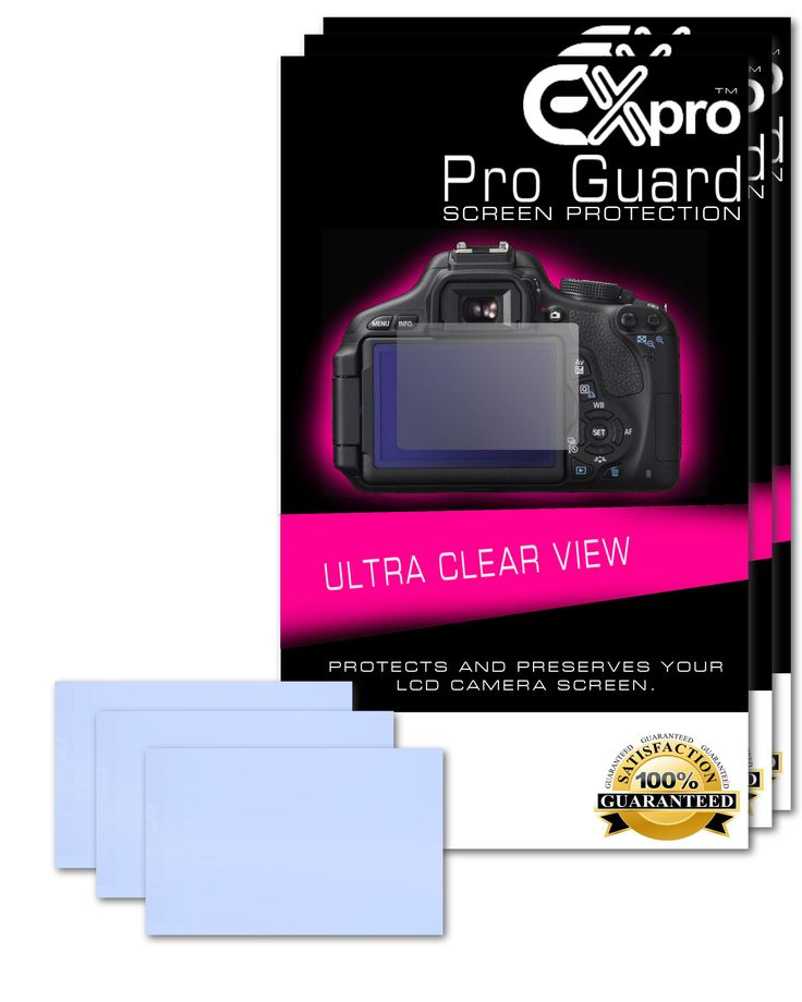 Ex-Pro® 3 x Pro Guard Ultra Clear View LCD Screen Protectors for Sony NEX-6