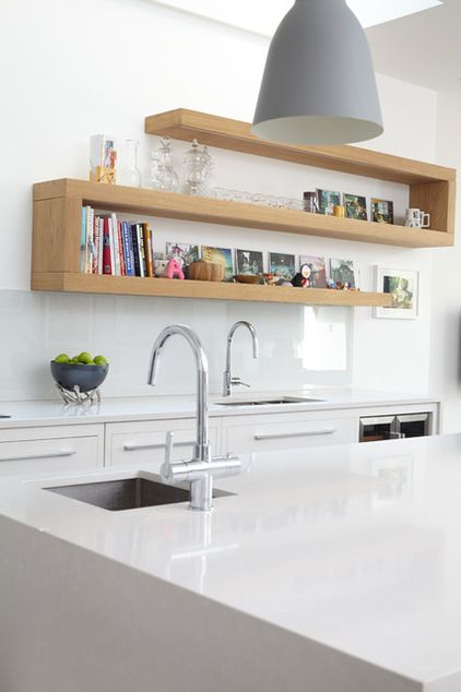 Next best, but not nearly as cool as those curvy ones.  Contemporary Kitchen by Blakes London
