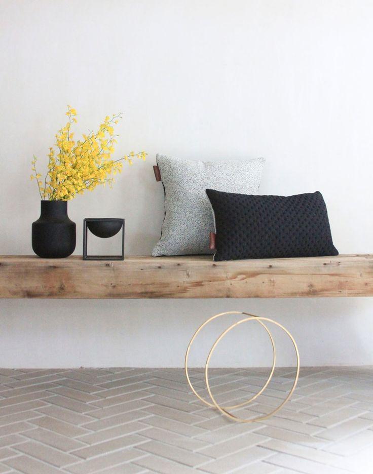 Image of Kumo cushion Cover - Black Rectanglular