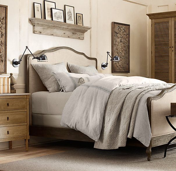 Restoration Hardware Bedroom Colors Cute Black And White Bedroom Ideas Little Boy Bedroom Furniture Girls Bedroom Colour Ideas: Lorraine Bed Without Footboard