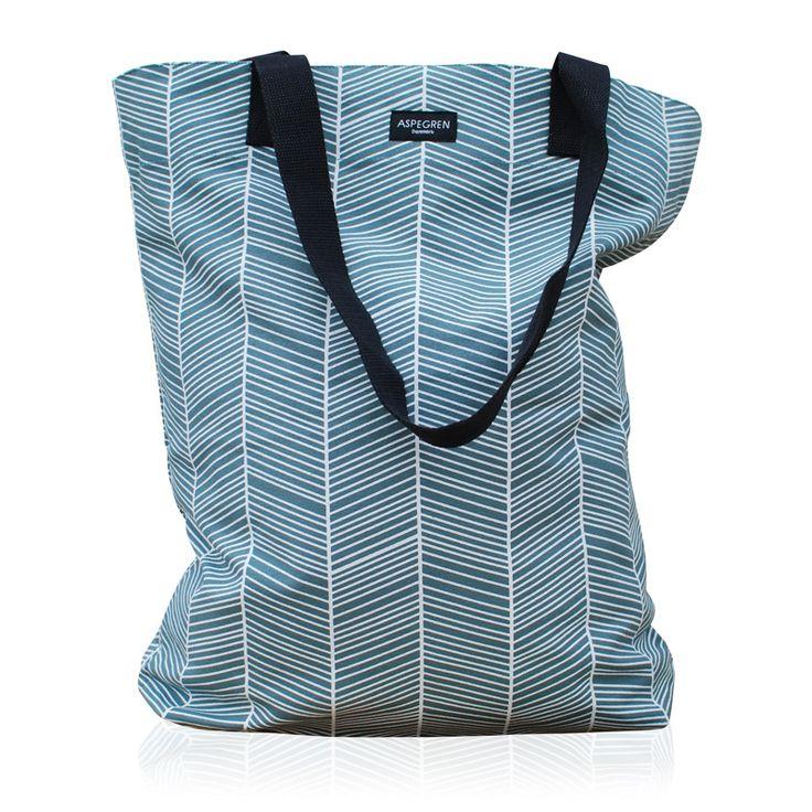 Einkaufstaschen Design Aspegren Denmark Bag Herringbone.. Elegante Canvas-Einkaufstaschen in starkes Material und schönes Design. Jetzt online kaufen!!!