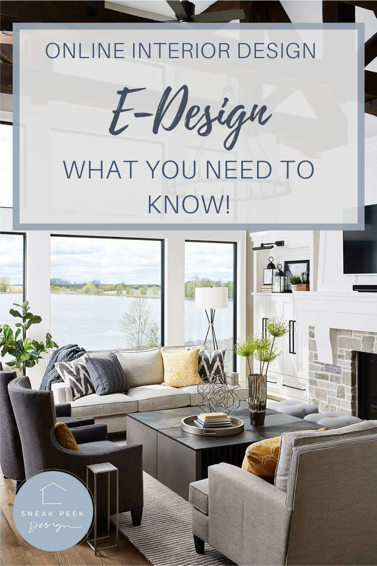E Design How It Works And Saves You Time And Money Sneak Peek Design Sneak Peek Design In 2020 Affordable Interior Design Online Interior Design Small Living Room Decor
