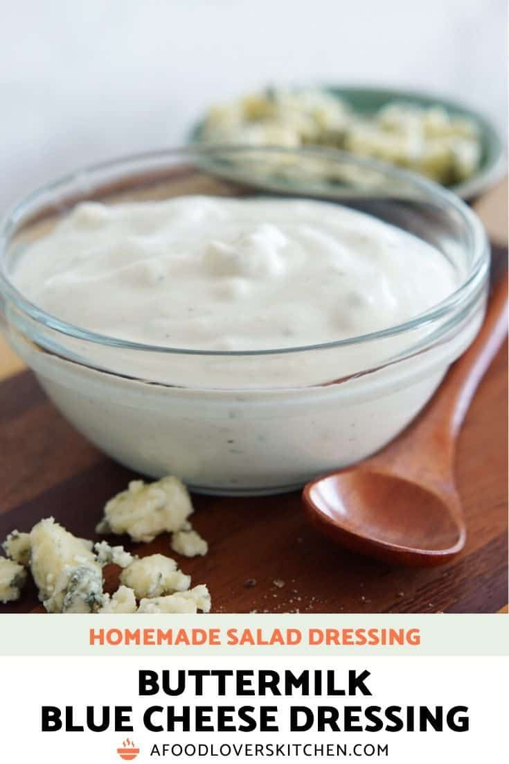 Homemade Blue Cheese Dressing In 2020 Homemade Homemade Salad Dressing Homemade Buttermilk