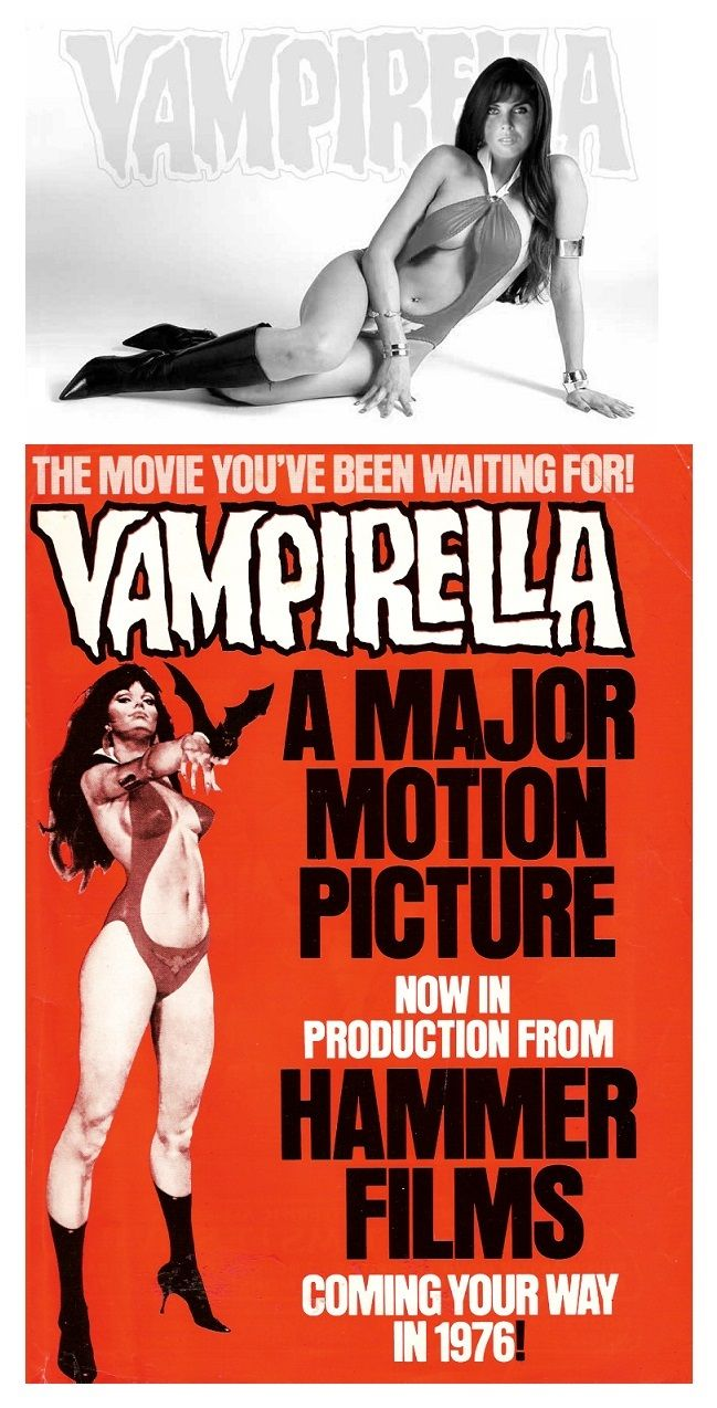 """Proposed """"Vampirella"""" movie for Hammer Films in 1976 with Caroline Munro suggested for the role."""