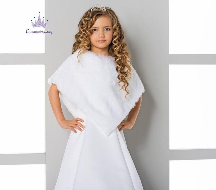 Communie cape kunst bont/First Communion cape for girls