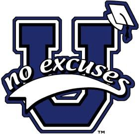 No Excuses University Logo - No Excuses University is a network of elementary, middle, and junior high schools across the United States. These schools actively promote a comprehensive model of college readiness to all students the moment they begin elementary school.
