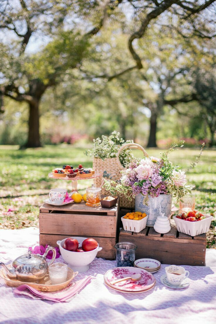 Picnic de verano #picnic #verano #jardín   Romantisches