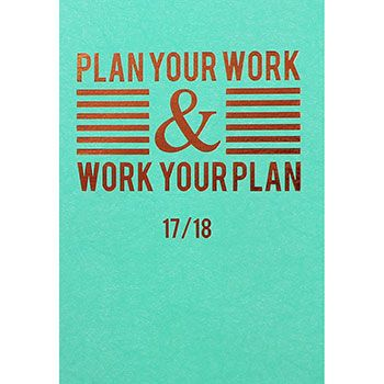 Buy A5 Soft Cover Plan Your Work Academic Diary 17-18 - Week To View  online from The Works. Visit now to browse our huge range of products at great prices.