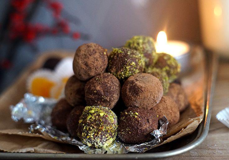 Čokoládovo karamelové lanýže s rumem | Veganotic