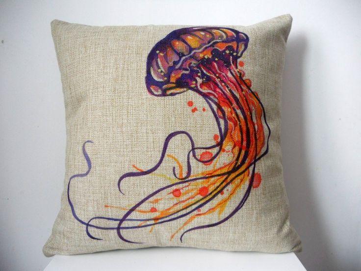 amazoncom decorbox cotton linen square throw pillow case cushion cover for sofa watercolor