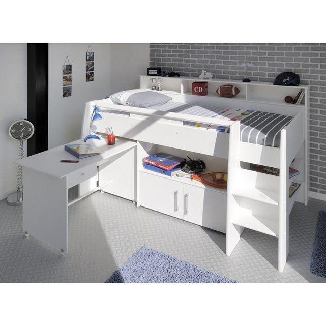 17 meilleures id es propos de lit en hauteur sur pinterest mezzanine design lit 2 places et. Black Bedroom Furniture Sets. Home Design Ideas