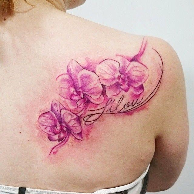 Die besten 25 tattoo orchidee ideen auf pinterest tattoo orchidee schulter - Orchideen tattoo vorlage ...