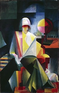 Itten, Johannes (1888-1967) - 1916 The Oratorio Singer Helge Lindberg (Staatsgalerie Stuttgart, Germany). Johannes Itten was a Swiss expressionist painter, designer, teacher, writer and theorist associated with the Bauhaus school, mainly concerned with color.