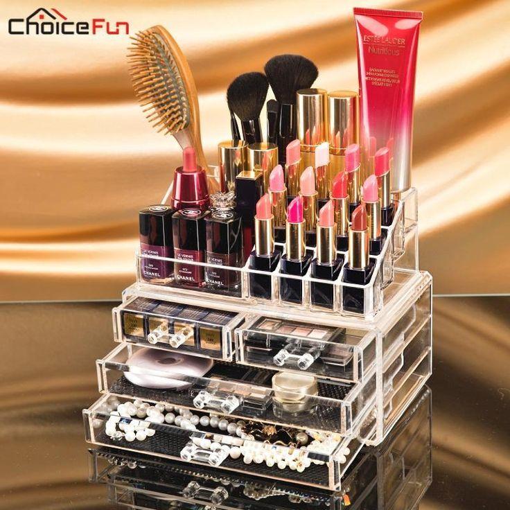 Transparent Plastic Makeup Make Up Organizer For Cosmetic