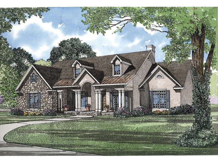 1000 images about houses on pinterest wrought iron House plans with 4 car attached garage