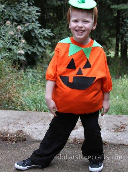 No-sew pumpkin costume. Miles said he wanted to be a pumpkin....