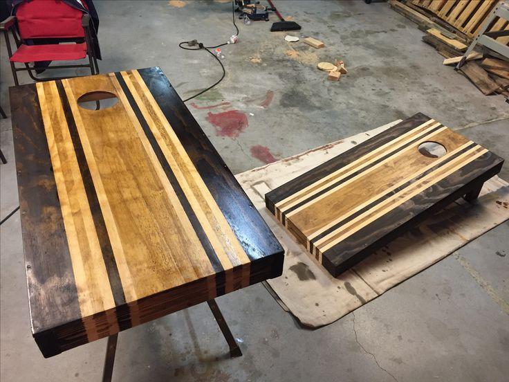 Boards Stained Honey Oak Espresso Baggo Bean Bag Toss
