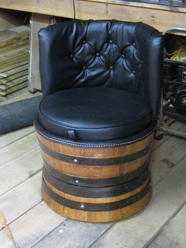 I have always wanted a whiskey barrel chair!