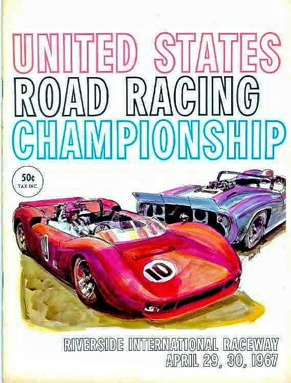 Chevy V8's ruled the USRRC races in 1967.  American Trans Am Champ and Indy 500 winner Mark Donohue not only powered his Chevy V8 Sunoco Special to victory at Riverside International Raceway on April 30, 1967, he went on to claim the season championship for the Roger Penske Team.