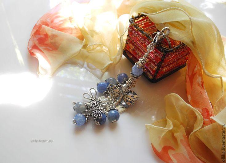 Купить Брелок для ключей Стрекозы брелок на сумку, украшение на сумку,брелок - брелок для ключей