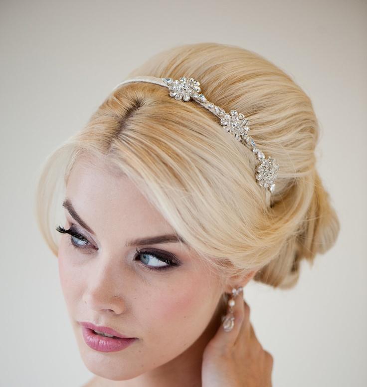 Crystal Headband, Ribbon Headband, Bridal Headband, Wedding Hair Accessory - NICOLE. $89.00, via Etsy.