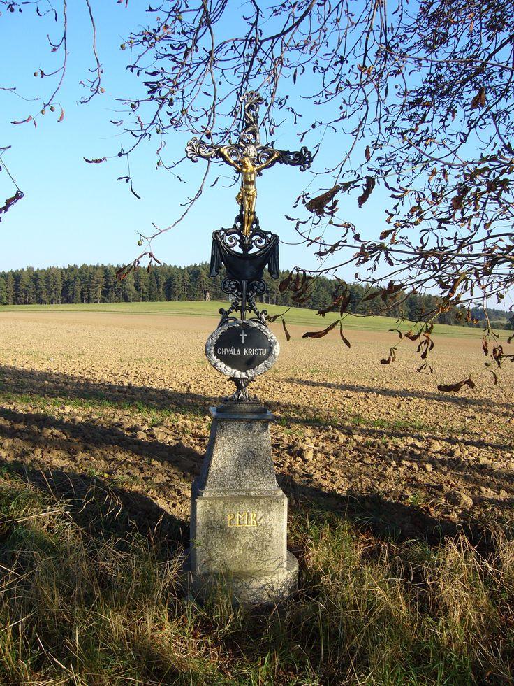 Cross near village Babice (distr. Třebíč, south Moravia)