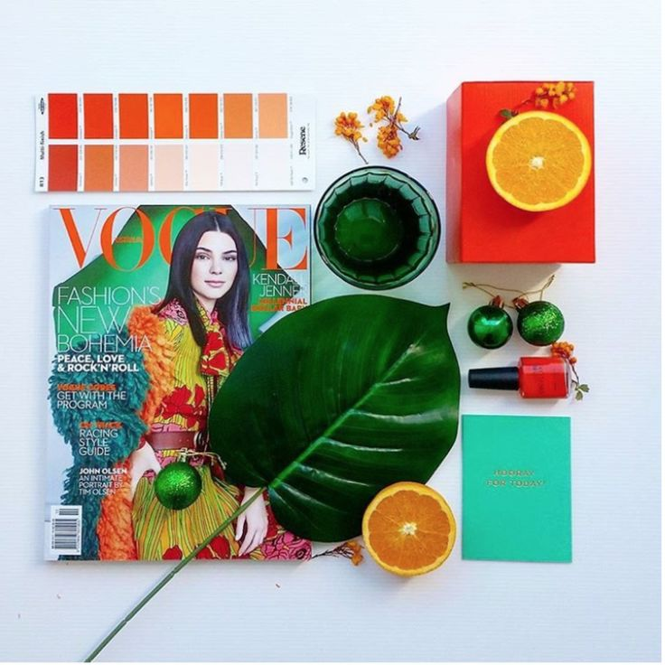 Using a magazine for styling inspiration| Image by @revisededitionstyle   How to Create A Flatlay by CREATIVELY SQUARED | Styling | Create | Flatlay | Product Styling