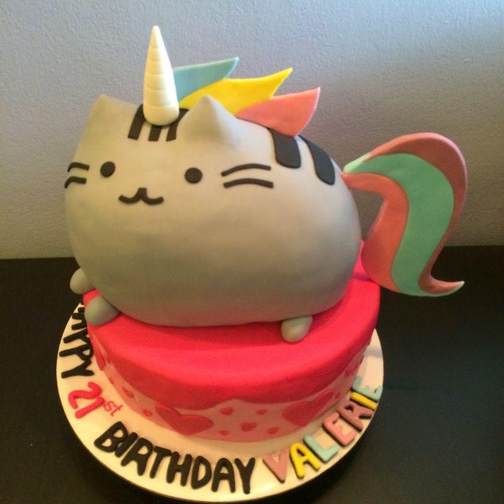 Rainbow Unicorn Pusheen Cake | Crissa's Cake Corner!