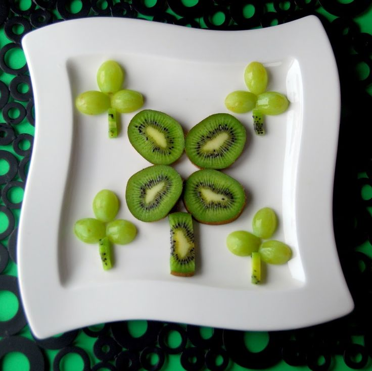 Healthy twist on a St. Patrick's Day snack for kids!