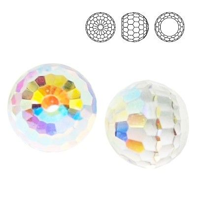 4869 Ball 6mm Crystal AB CALVZ  Dimensions: 6,0 mm Colour: Crystal AB CALVZ 1 package = 1 piece
