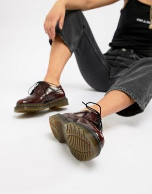 914c089a355485 Shop Dr Martens 3989 Cherry Leather Stacked Brogues at ASOS. Discover  fashion online.