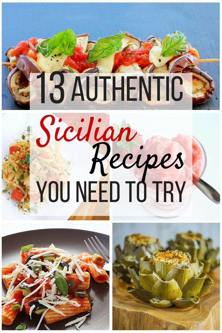 21 best hearty and easy italian meals images on pinterest italian 13 authentic sicilian recipes you need to try forumfinder Image collections